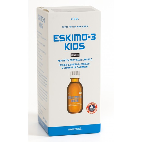 Food supplement Eskimo®-3 Kids Flavos of various fruits (Tutti frutti) With vitamins D and E
